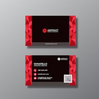 Черное и красное абстрактное оформление визитки