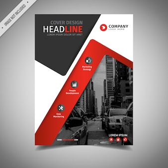 Black and red business brochure design