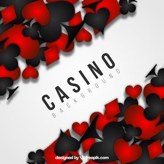 Черный и красный фон казино