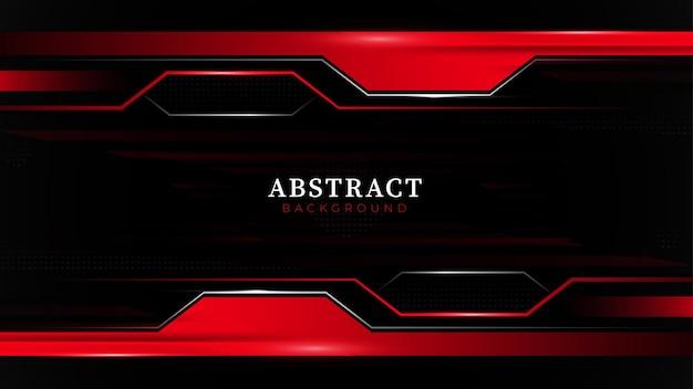 Черно-красные металлические линии технологической схемы фона в красном оттенке и форме
