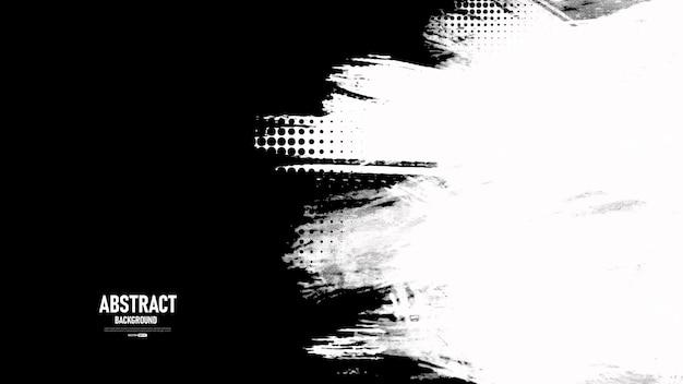 Черно-белый абстрактный фон с текстурой гранж