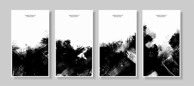 Черно-белый абстрактный гранж краска текстура фон