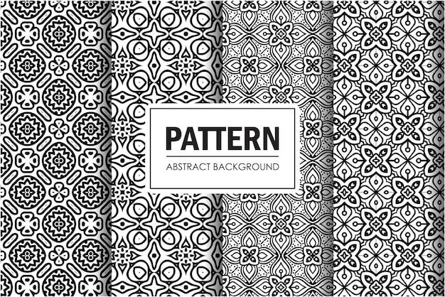 黒と白の抽象的なパターンセット