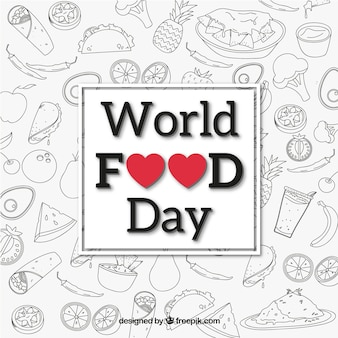 Черно-белый фон для мирового продовольственного дня