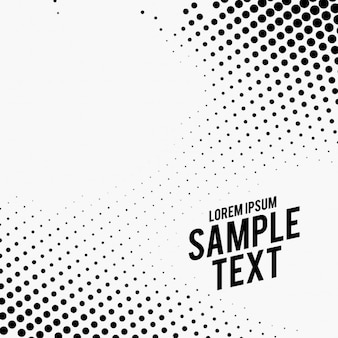 Black and white background, halftone dots
