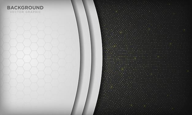스파클 반짝이 점 요소에 흑백 배경