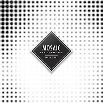 Black and white background with dots