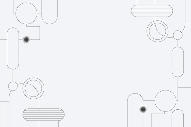 기하학적 형태와 흑백 배경