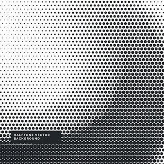 ハーフトーンドットと黒と白の背景