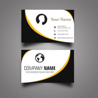 Черно-белая визитная карточка