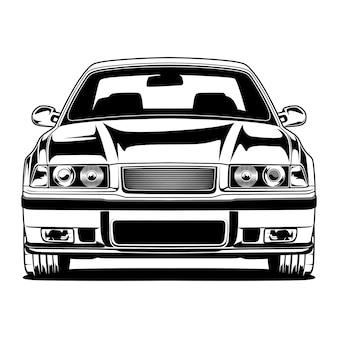 흑인과 백인 자동차 그림