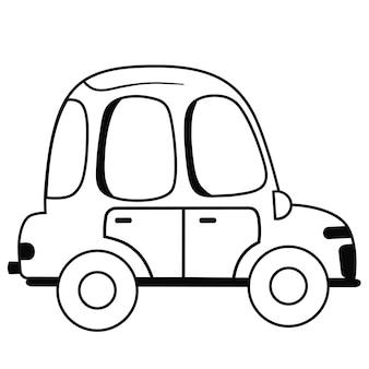 黒と白の車のベクトル図
