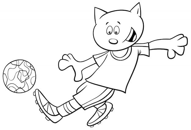 고양이의 흑백 만화 일러스트