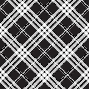 흑백 체크 픽셀 스퀘어 패브릭 질감 원활한 패턴