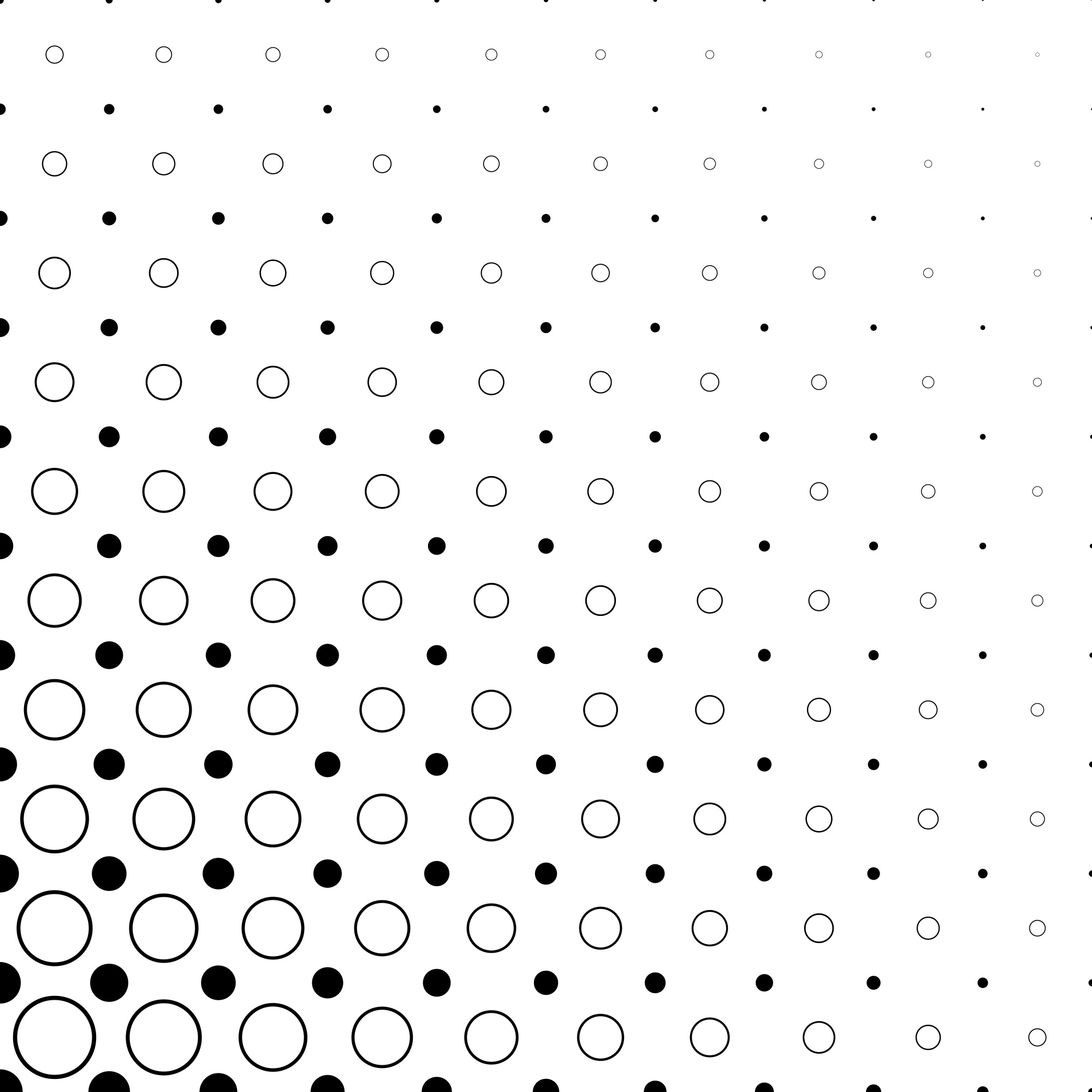 Black and white circle pattern - abstract vector background