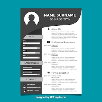 Black and white curriculum template