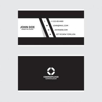 Черно-белая визитная карточка дизайн