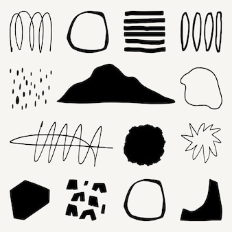 黒と白のデザイン要素