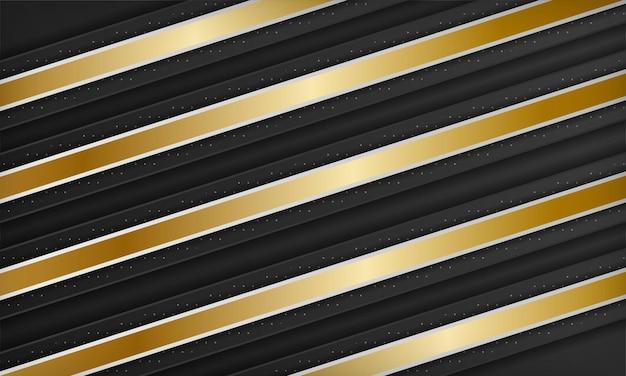 황금 요소와 흑백 대각선 럭셔리 배경