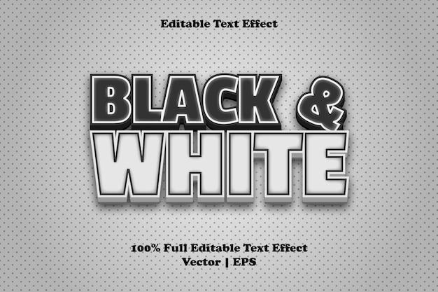 黒と白の編集可能なテキスト効果