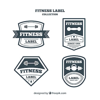 Black and white fitness badge pack