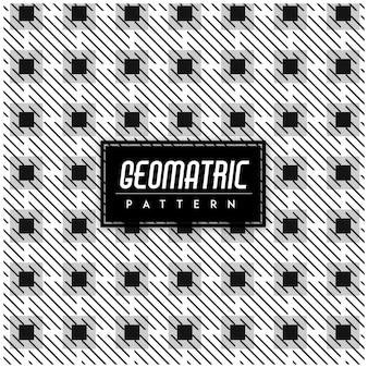 Black and White Geomatric Seamless Pattern Background