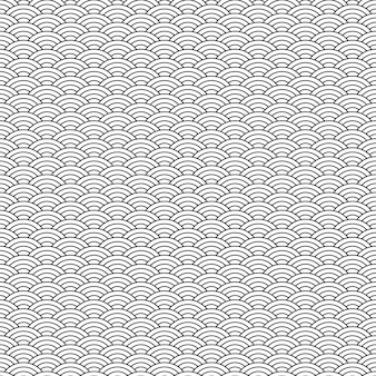 黒と白の幾何学的なシームレスパターン