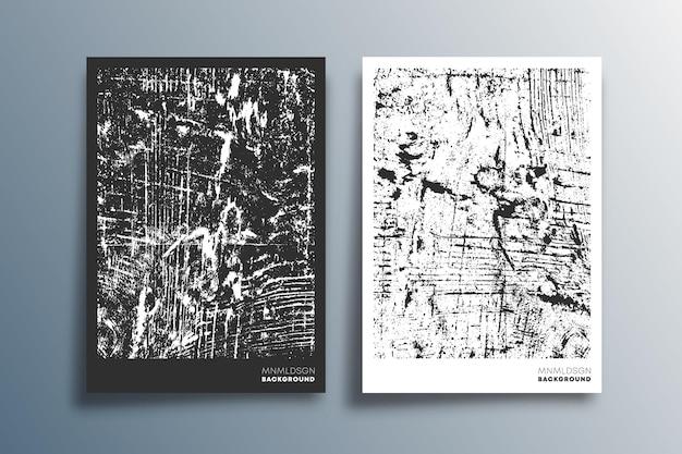 배경, 벽지, 전단지, 포스터, 브로셔 표지, 인쇄술 또는 기타 인쇄 제품을 위한 흑백 그루지 텍스처 디자인. 벡터 일러스트 레이 션.