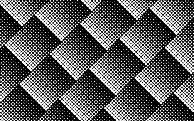 黒と白のハーフトーンの背景のベクトル