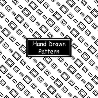 흑인과 백인 손으로 그려진 된 패턴
