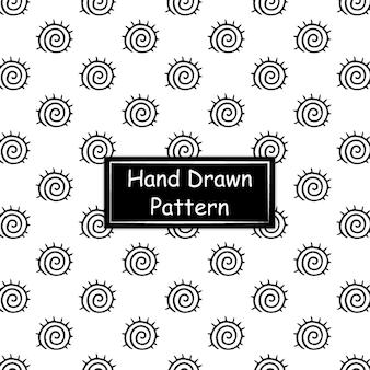 黒と白の手描きのパターン