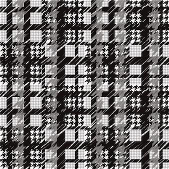黒と白の千鳥格子パターン