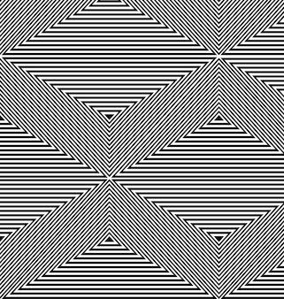 Черно-белый кинетический фон из треугольников