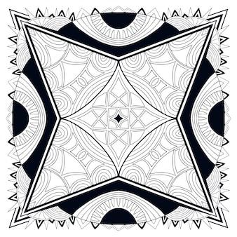 Черно-белый фон мандалы