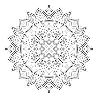 색칠 공부를 위한 흑백 만다라 디자인