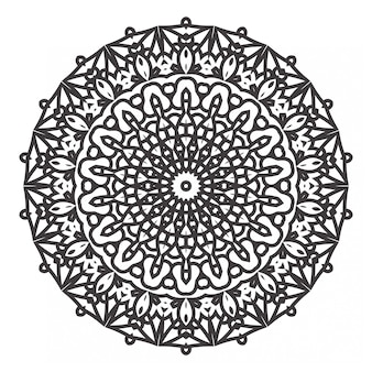 Черно-белые мандалы раскраски