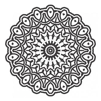 黒と白のマンダラの塗り絵