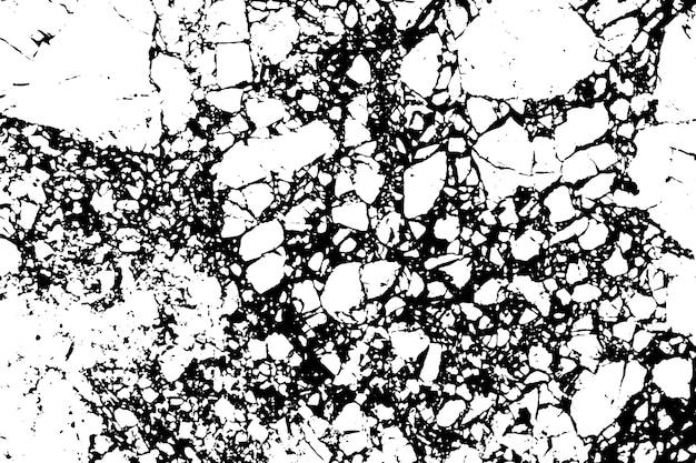 Черно-белые мраморные трещины простой текстуры.
