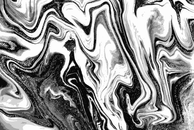 흑인과 백인 대리석 패턴. 추상적 인 배경.