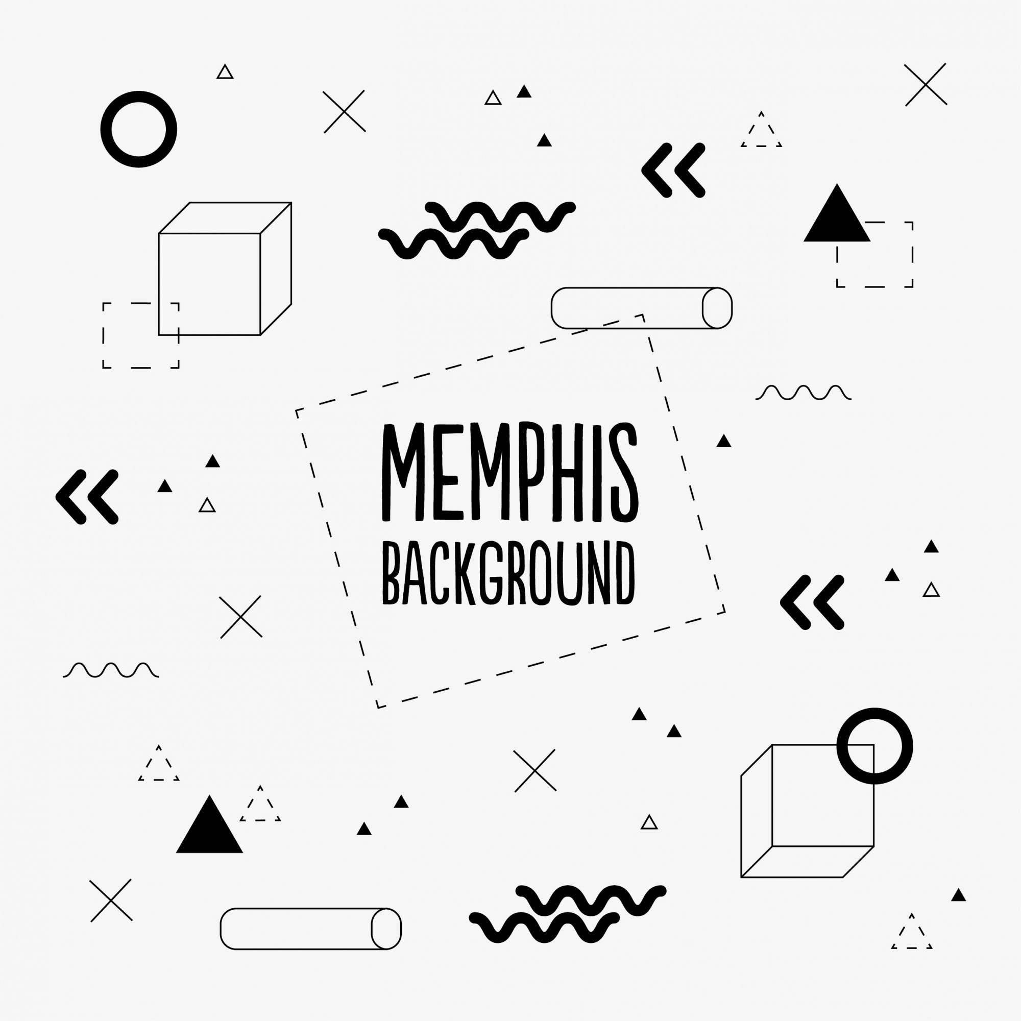 Black and white memphis background
