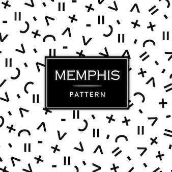 흑인과 백인 현대 멤피스 패턴 배경