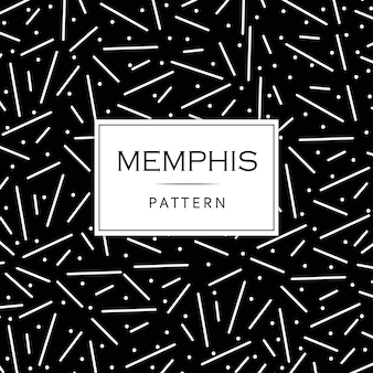 Black and White Modern Memphis Pattern Background