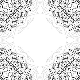 黒と白の装飾パターン。