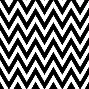 ジグザグの黒と白のパターン。古典的なシェブロンのシームレスパターン。