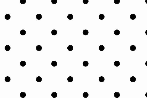 Черно-белые обои с милым рисунком в горошек Бесплатные векторы