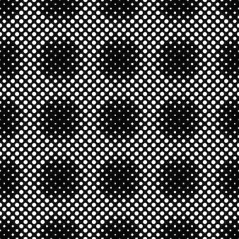 黒と白のシームレスな幾何学的円パターン
