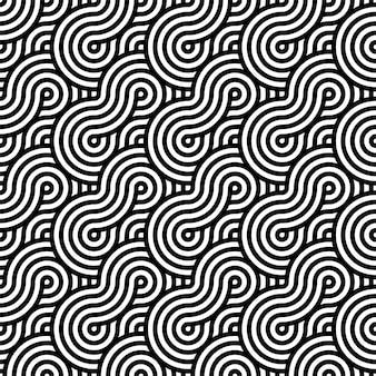 黒と白のシームレスパターン。幾何学的形状。
