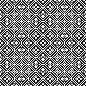 黒と白のシームレスなパターン。東洋の飾り。 。