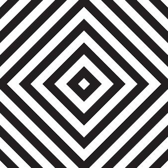 正方形のジグザグと黒と白のシームレスパターン