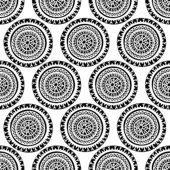 黒と白のシームレスパターン